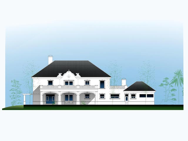 Clubhouse building redesign, draft design 2009.